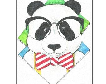 Hipster Bear Blanket