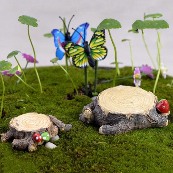 Tree Stump Miniature Landscape Ornament Fairy Garden Bonsai Dollhouse Decoration