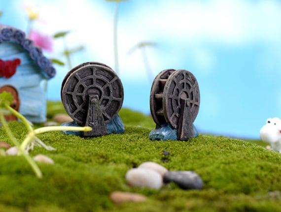 2 Sets Miniature Boat Fairy Garden Terrarium Figurine Decor DIY  RAS