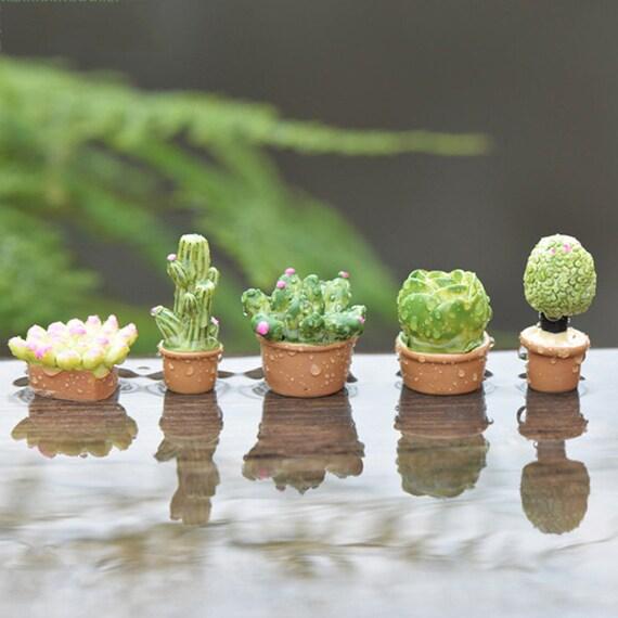 5pcs Flower Pot Terrarium Figurines Fairy Garden Decoration Miniatures  Bonsai Tool Micro Landscape Dollhouse Ornaments Mini Jardin Gnomes