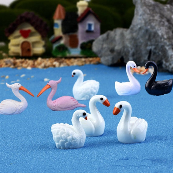10 Pairs Miniatures Dollhouse Bonsai Fairy Garden Landscape Duck Decor