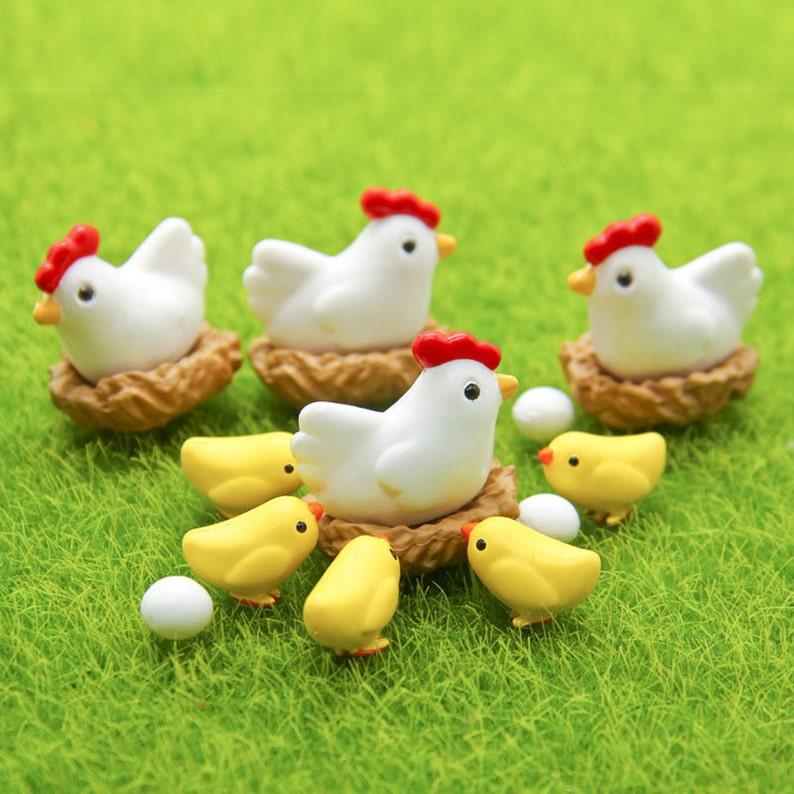 1 set  16pcs  Chicken Breed Hen Family Bonsai Tools Fairy image 0