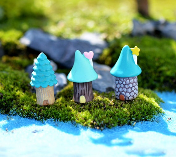 4x Boat + 8x Oars 1 set Terrarium Figurines Fairy Garden Decoration Miniatures Bonsai Tool