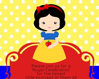 Snow White Invitations, Cute Snow White, Snow White & the 7 Dwarfs, Disney Princess