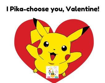 Pikachu Valentine's Day Cards, Pikachu Cards