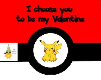 Set of Pokemon Valentine's Day cards, Pokemon Valentines, Pikachu Cards