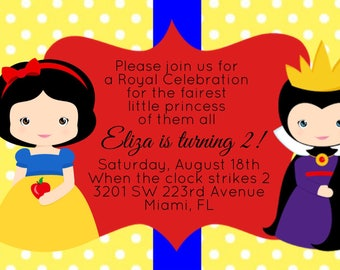 Snow White Invitations, Cute Snow White, Evil Queen, Disney Princess