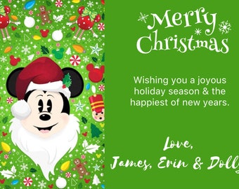 mickey mouse christmas cards mickey mouse santa mickey mickey christmas disney christmas cards disney holiday cards disney cards