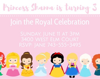 Cute Disney Princess Invitations, Cute Princess, Princess Invitation, Cute Princesses, Princess Invitations, Disney Princesses,