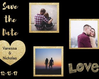 Photo Wedding Save-The-Date Prints, Save the Date, Save the Date cards, Save the Date invitation, customized, engaged, save the date photos