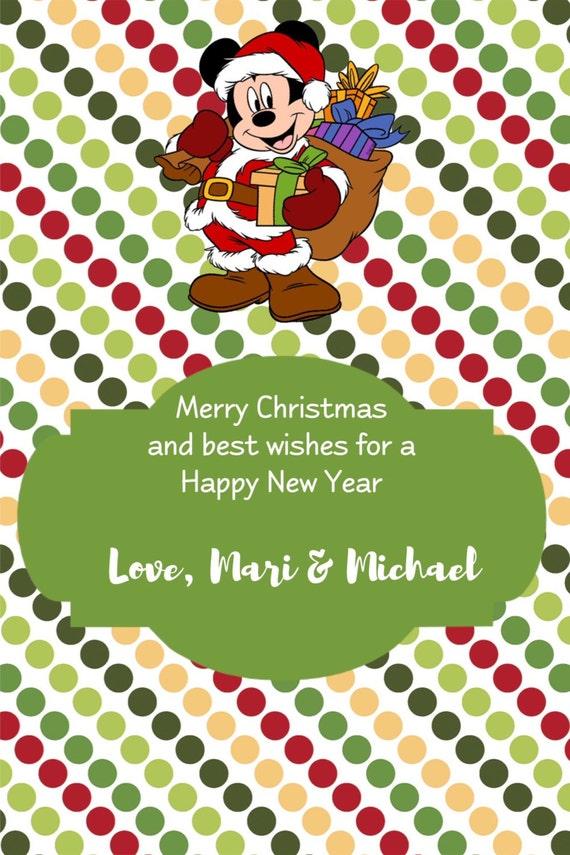 Mickey Mouse Christmas Cards Santa Mickey Mouse Santa | Etsy