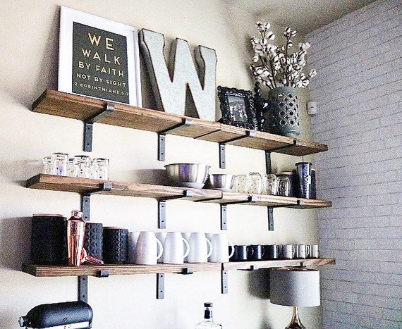 Amazing Floating Shelves Industrial Shelves 8 Depth Fixer Upper Style Wall Art Wall Decor Book Shelf Open Kitchen Shelving Home Interior And Landscaping Oversignezvosmurscom