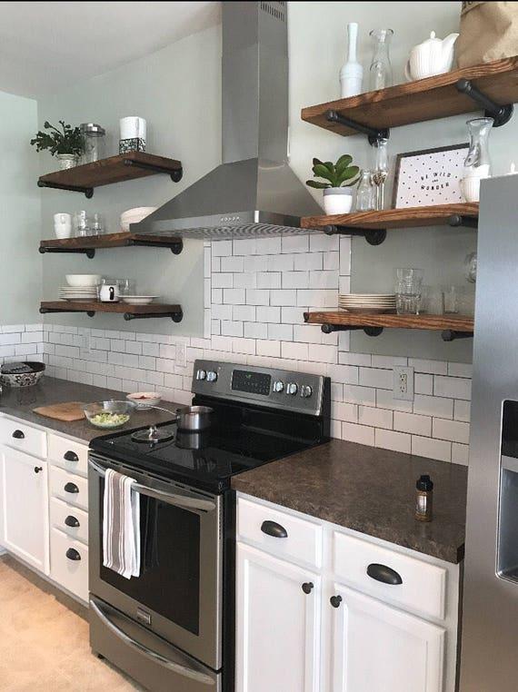 Industrial Kitchen Shelves New Kitchen Area Design Gallery
