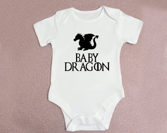 77b98e2a5 Game Of Thrones Baby Dragon Baby Grow Body Grow Body Suit Onsie Babygrow  Bodysuit 0-3 Months 3-6 Months 6-9 Months 9-12 Month 12-18