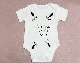 Suit United Kingdom Themed Baby Grow I LOVE BRITISH DADDY Dad Father
