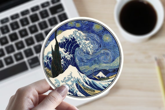 Great Wave Off Kanagawa Circle Car Vinyl Sticker SELECT SIZE
