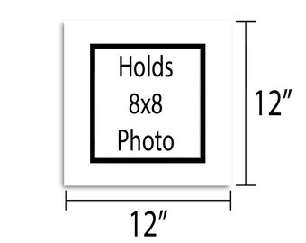 12x12 Double Mat - Multiple Colors - Holds 8x8 Artwork