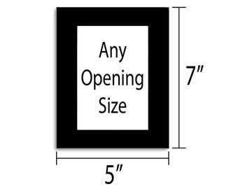 5x7 Photo Mat - Multiple Colors - Any Opening Size