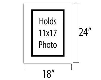 18x24 Double Mat - Multiple Colors - Holds 11x17 Artwork