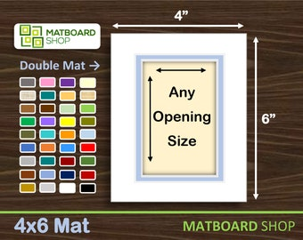 4x6 Premium Double Matboard