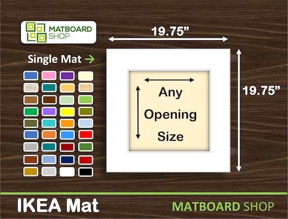 19.75x19.75 Mat Board 19.75 x 19.75 Ikea Ribba Picture Frame Matboard for any size Photo