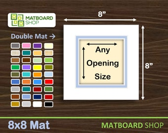 8x8 Premium Double Matboard