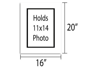 16x20 Double Mat - Multiple Colors - Holds 11x14 Artwork