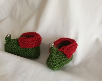 Christmas baby Elf Booties
