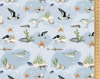 Cotton Fabric Daniela Dresscher : Beach Life