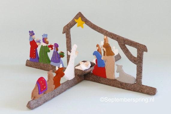 Rondom De Kerststal Een Doe Het Zelf Pakket Etsy