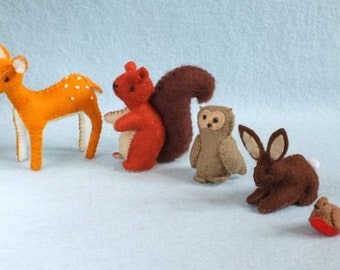 Five Forest Animals, a DIY package