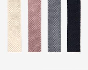 1Y+ Cotton Webbing Strap 3 cm wide (Natural/Indie Pink/Dark Navy) : Dailylike Canada