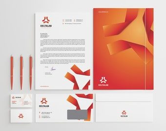 Corporate stationery design template business card corporate stationery design template business card letterhead envelope folder ai eps psd docx pdf instant download v2 wajeb Choice Image