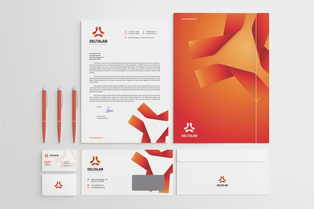 Corporate stationery design template business card etsy image 0 cheaphphosting Images