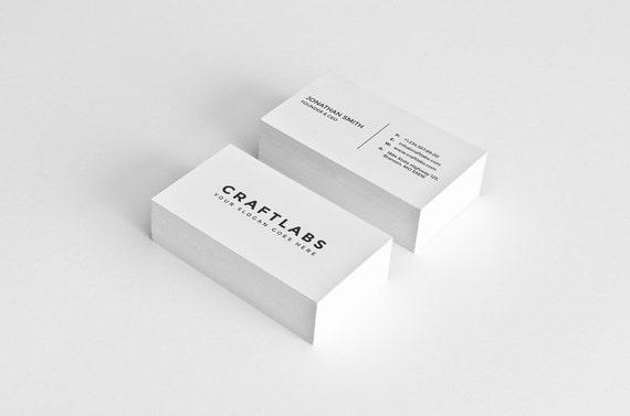 Einfache Visitenkarten Design Template Photoshop Vorlagen Modern Sauber Minimalist Instant Download V1
