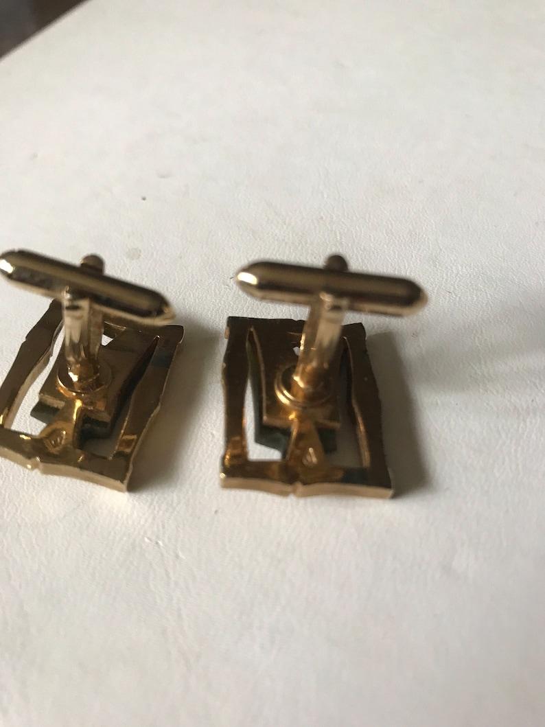 Vintage plated designed cuff links-