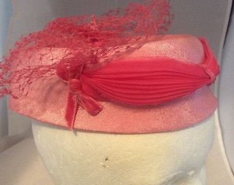 Pink band with pink mesh hat