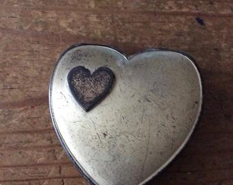 Vintage heart shaped compact