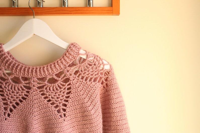 e1682b6bd Adelaide Lace Sweater Crochet pattern  women s crochet