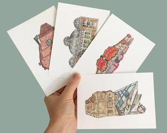 Toronto Landmarks Postcard 4-Pack