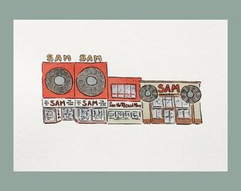 Sam the Record Man Print