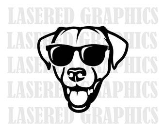 Lab with sunglass svg, cool lab svg, lab svg, dog dad, dog mom svg, eps, jpeg, Instant Download.