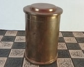 Silver Crest Vintage 1920 39 s Bronze Humidor model 401-91, 6.5 inches tall, made in USA, brought to you by UsefulRetro