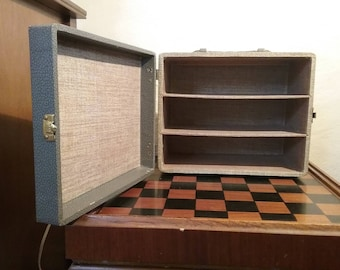 Vintage Three Compartment Craft Carrying Case, brought to you by UsefulRetro!