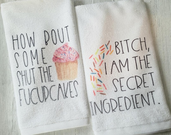 You need a shut the fucupcake funny kitchen towel