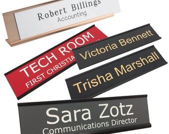 Desk name plate etsy more colors colourmoves