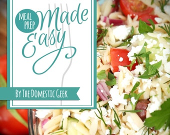 Meal Prep Made Easy eBook - MENUS 7-12