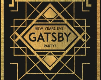 Gatsby Inspired New Year's Eve Party Printables