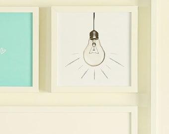 Lightbulb Printable Sign