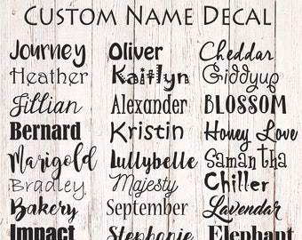 custom name decal personalized name label name sticker vinyl name decal name decal yeti custom vinyl lettering
